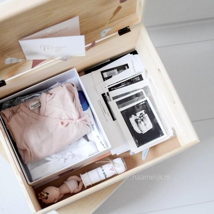 herinneringskist maken voor je baby - inhoud