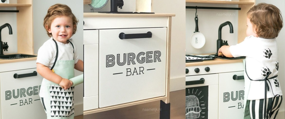 Ikea keuken sticker 'burger bar'