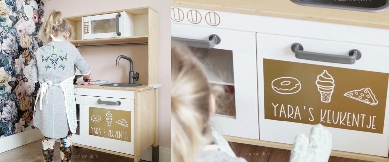 Ikea keuken sticker 'Lekkers vlak'