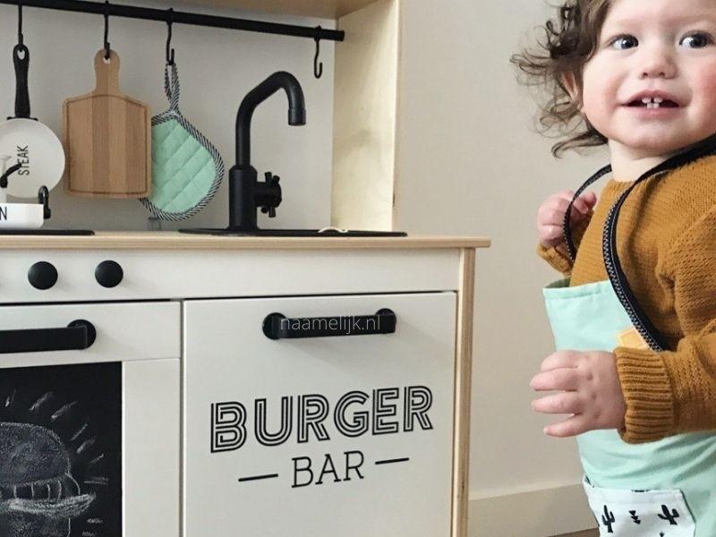 Keukensticker burger bar