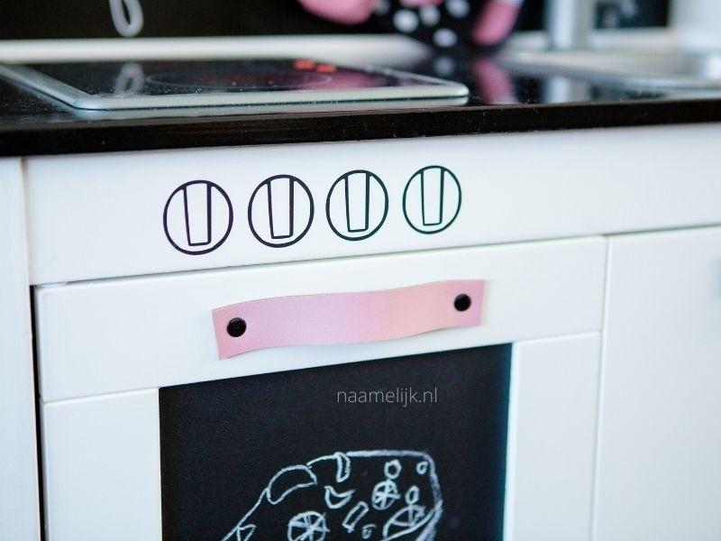 Ovenknopjes stickers ikea keukentje