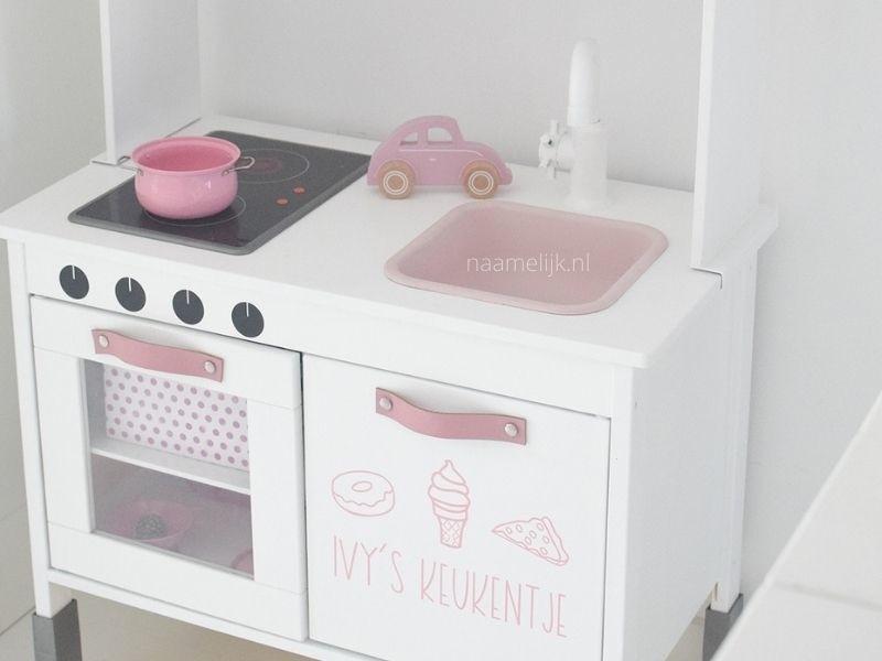 Keukensticker 'lekkers' lichtroze