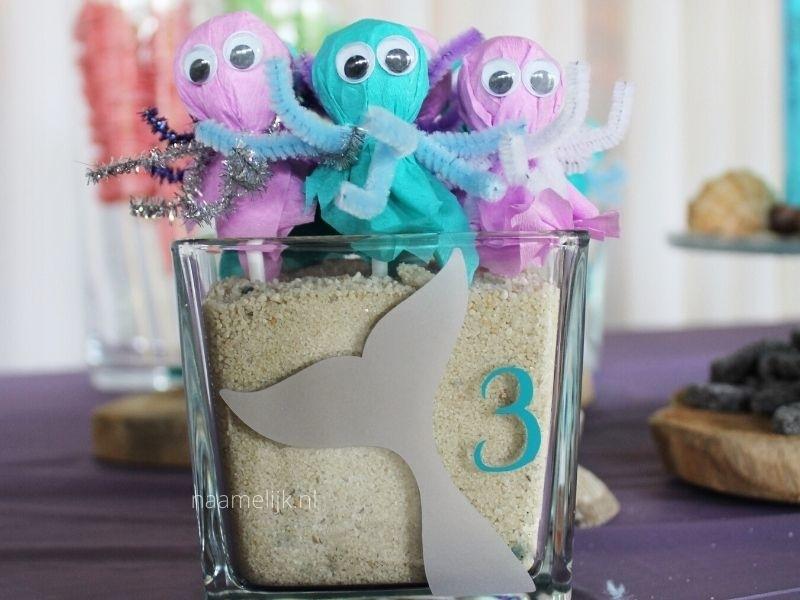 Verjaardagsstickers mermaid