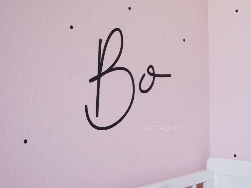 Naamsticker Bibi op muur meisjeskamer