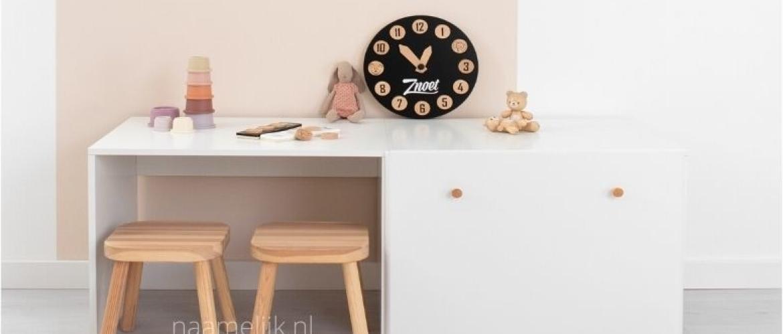 Speelhoek met opbergruimte voor je kinderen in de woonkamer