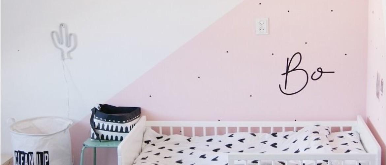 10 toffe muurstickers met naam in de kinderkamer