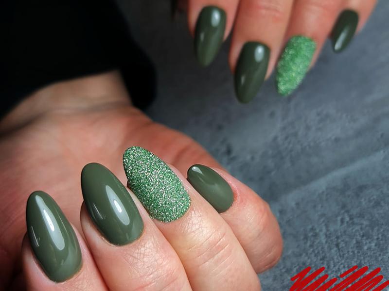 nagelstudio assen sugar look groen en groene gelpolish