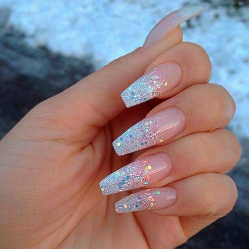 glittertop acrylnagel