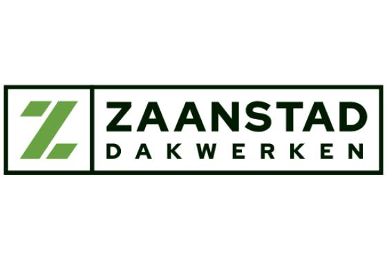 Groene letter Z met daarnaast in zwart Zaanstad Dakwerken