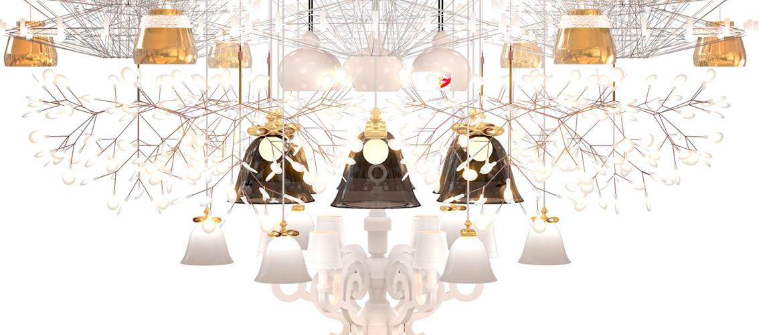 Welke kroonluchter is een echte eye-catcher voor een grote klassieke hal?