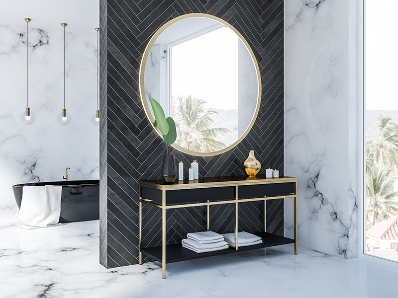 elegante badkamer