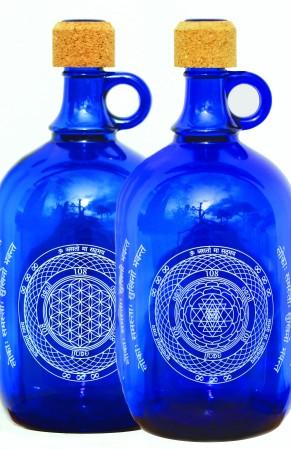 DEVI Karaf met Levensbloem of Sri Yantri symbool