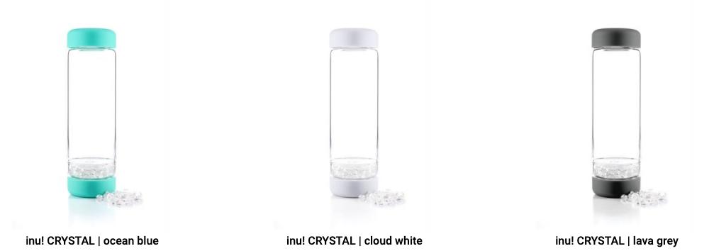 VitaJuwel DIY INU Crystal waterflessen Ocean ~ Cloud ~ Lava