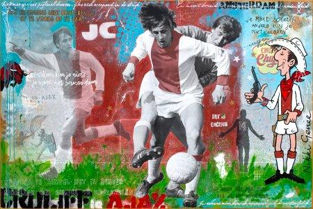 Johan Cruyff painting 'Cruyff is Ajax' by Nikki Genee