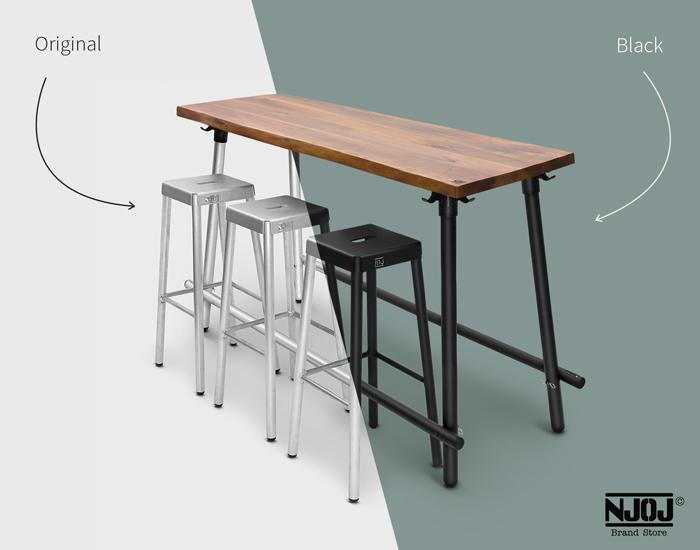 180cm-notenhout-industriele-statafel-black-orignal