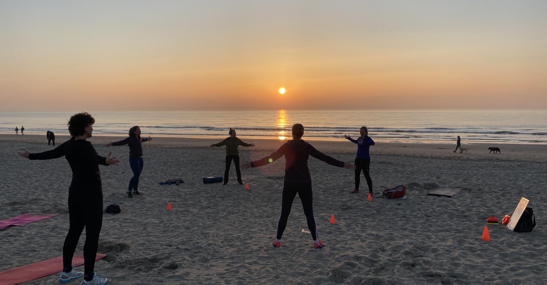 Trainen op het Noordwijkse strand