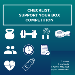 checklist support your box competition
