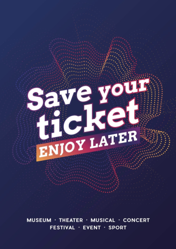 save your ticket visual