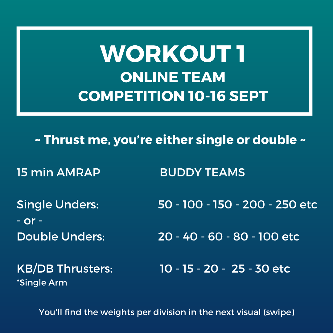 Workout 1 - Online team competition