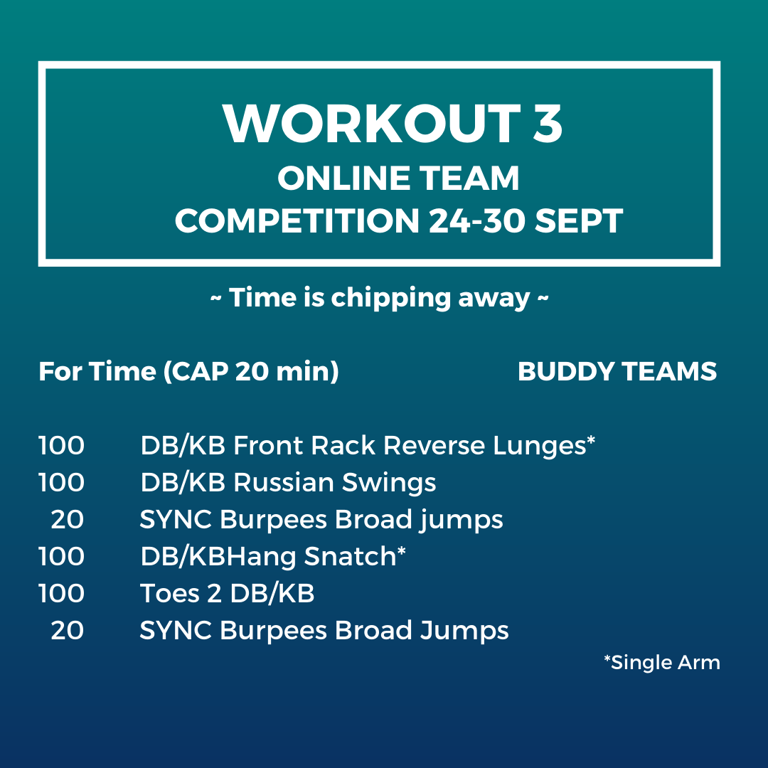 Workout 3 - Online team competition Buddy Teams