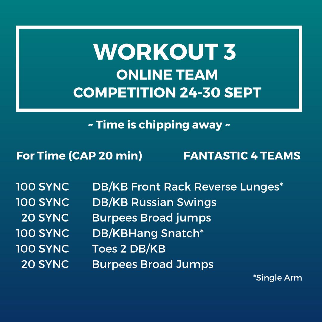 Workout 3 - Online team competition Fantastic 4 Teams