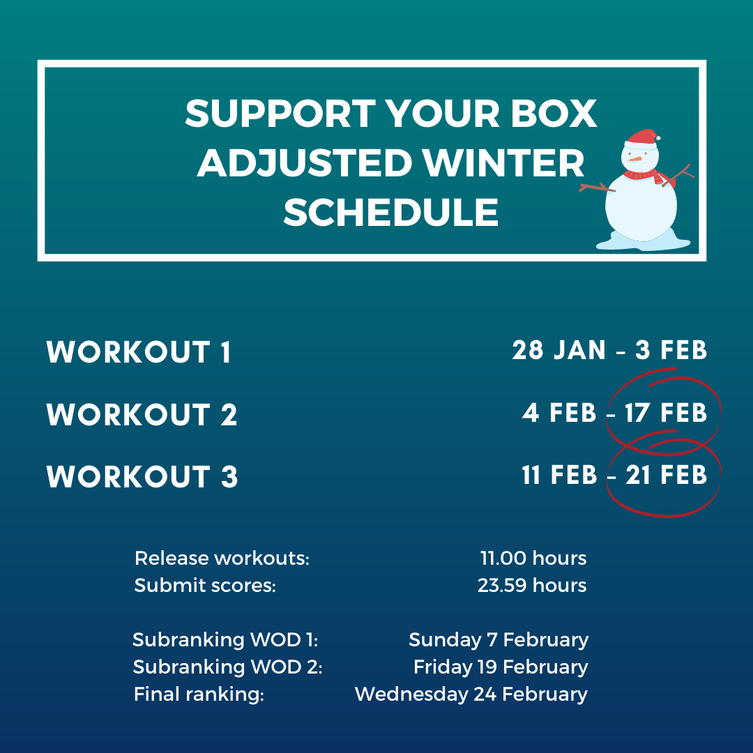 adjusted winter schedule