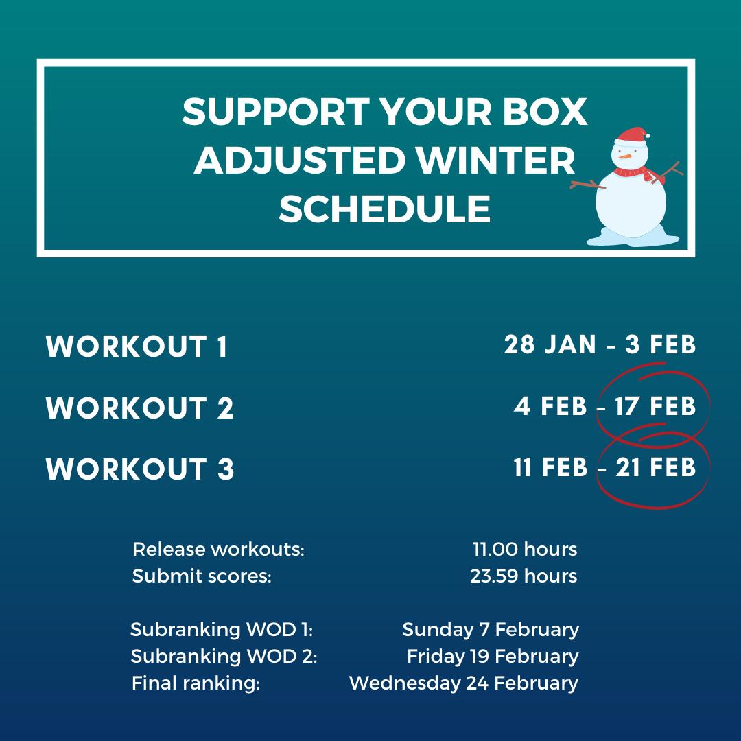 adjusted winter schedule