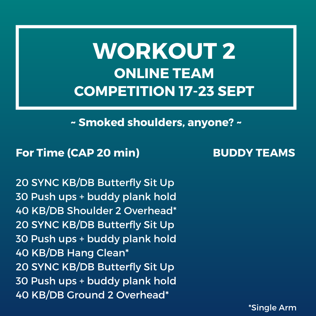 Online team competition workout 2