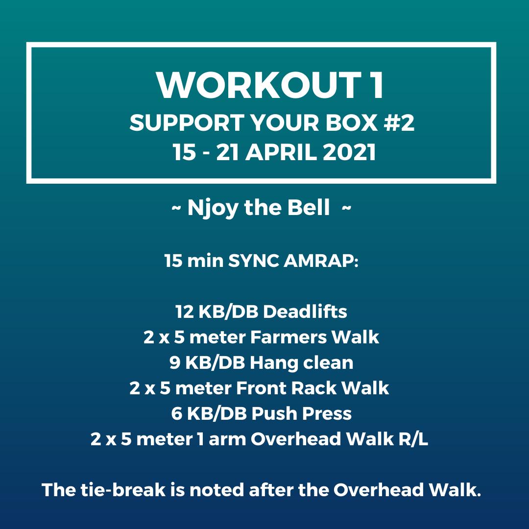 Workout 1 - Support your box 2, 15 April - 21 April 2021