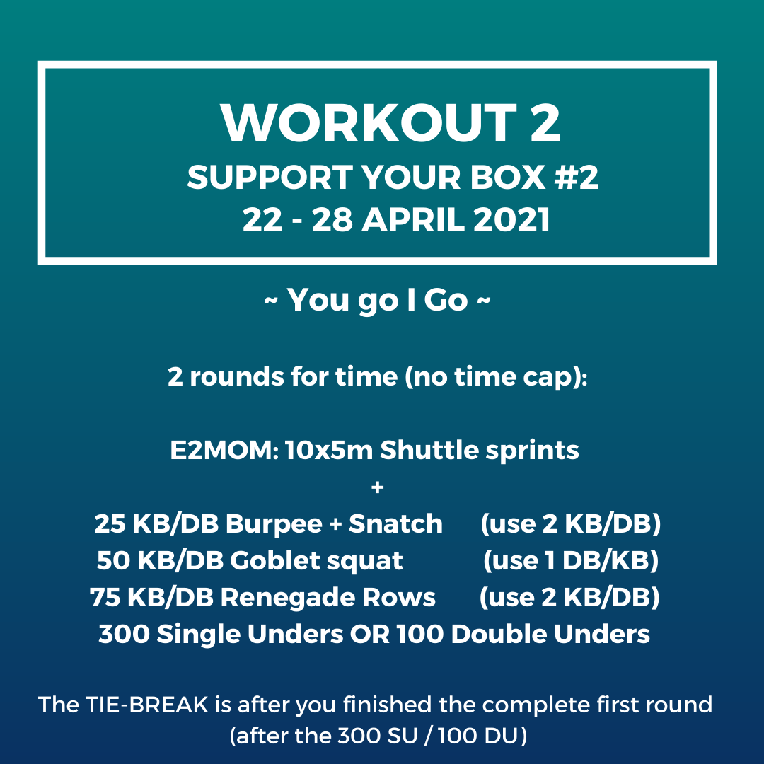 Workout 2 - Support your box 2 - 22-28 April 2021