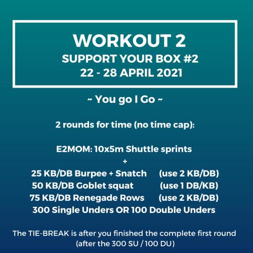 Workout 2 - Support your box 2, 22 April - 28 April 2021