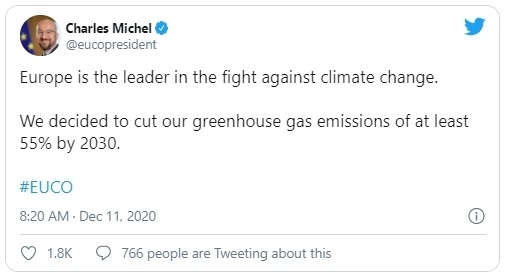 aankondiging nieuwe klimaatdoelen eu