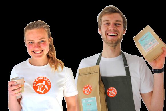 Oprichters No Rush Decaf cafeïnevrije koffie
