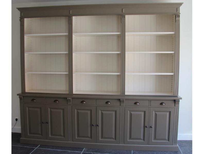 boekenkast stone kleur