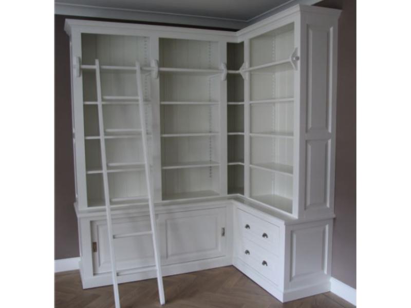 boekenkast met hoek ral 9010