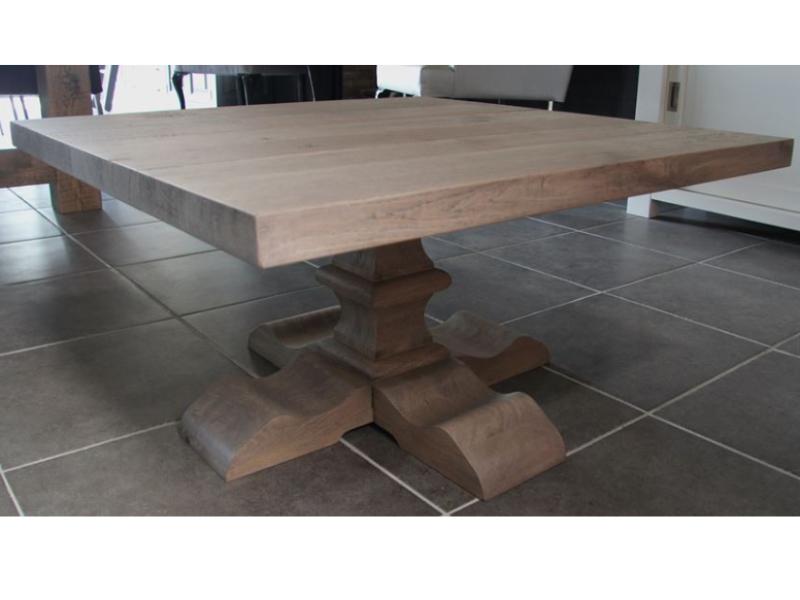 vierkante salontafel kloosterpoot