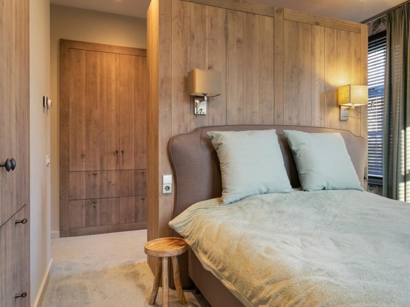 Landelijk interieur slaapkamer