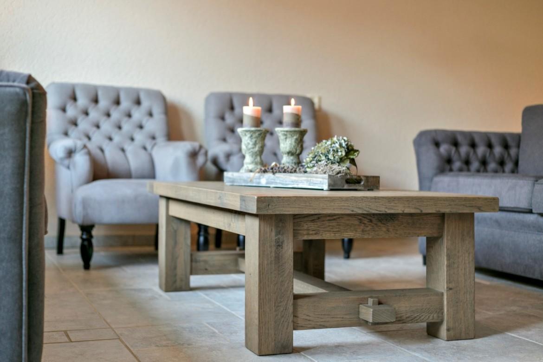 Eikenhouten salon tafel landelijke stijl
