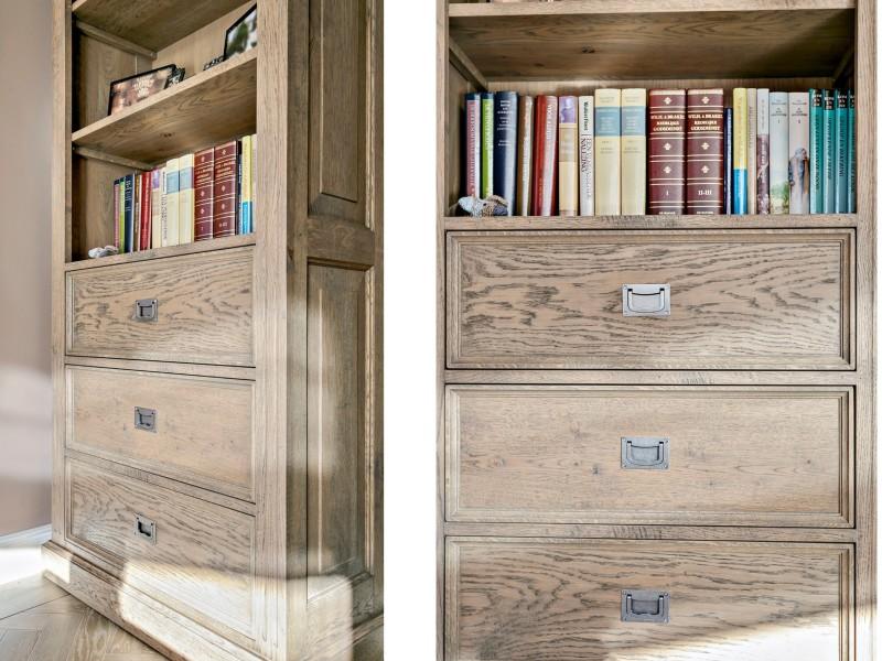 Landelijk interieur met maatwerk boekenkast