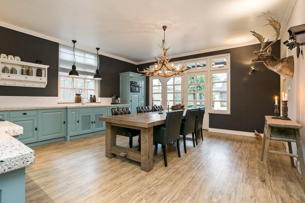 Landelijk keuken vloer hout