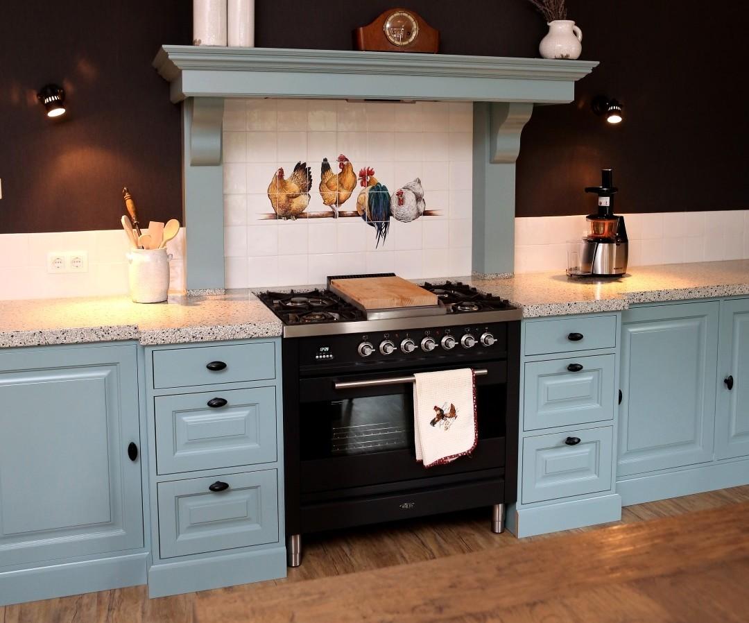 Keuken ontwerp met apparatuur