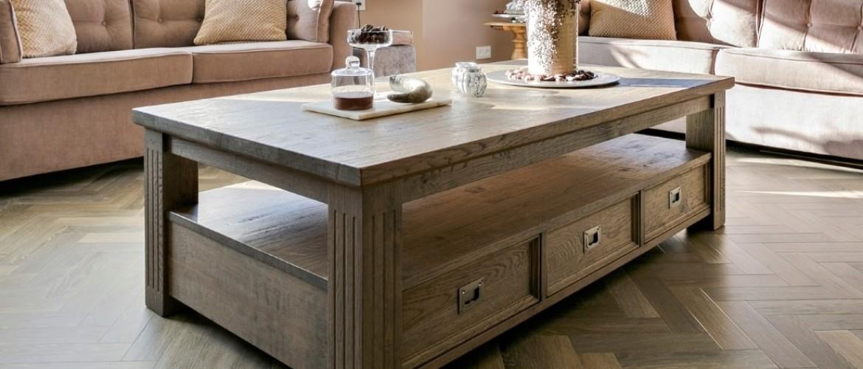 Landelijke salontafel op maat voor uw woonkamer