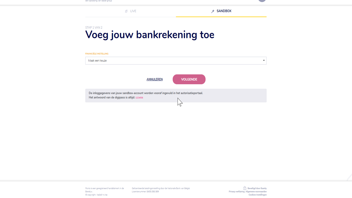 Bankkoppeling Business Central 3