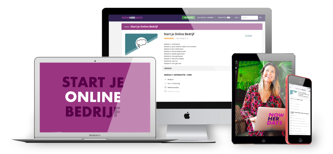 Start je online bedrijf e-learning