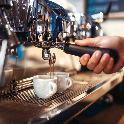 Koffiezetten met een espressomachine