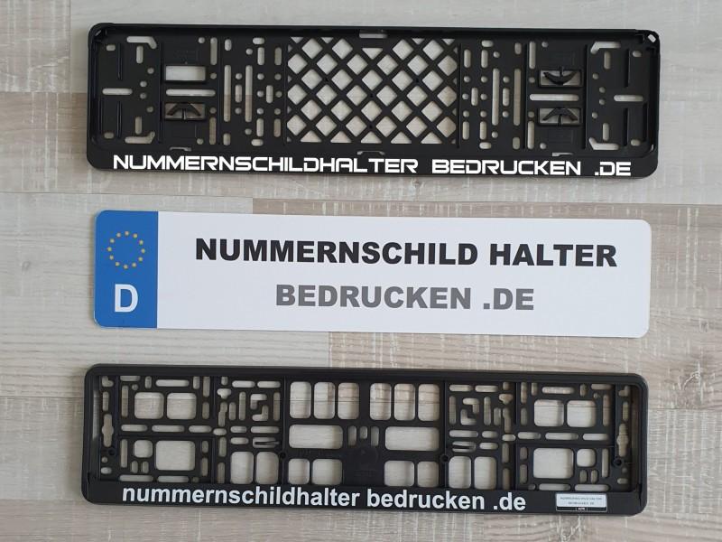 kfz nummernschildhalter bedrucken