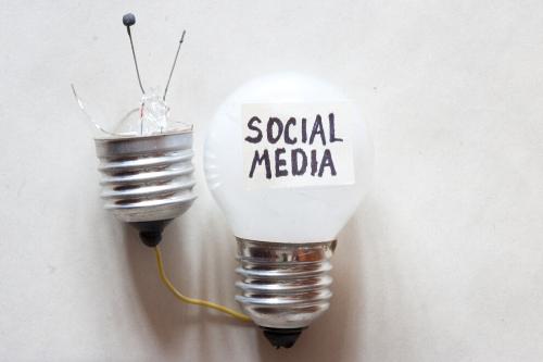 Lampen peertje met social media