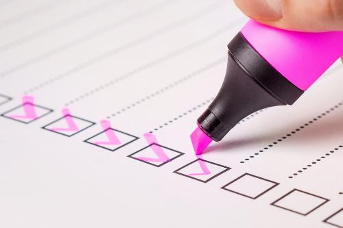 Opbouw van een e-mail checklist