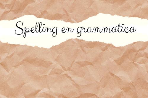 Spelling en grammatica foto - gescheurd papier