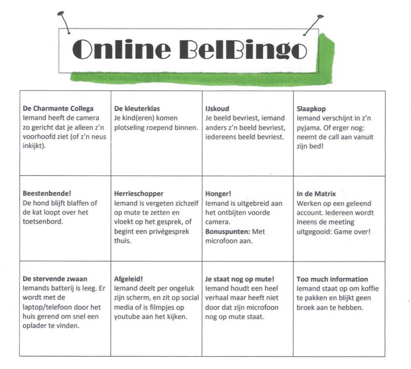 Online Belbingo